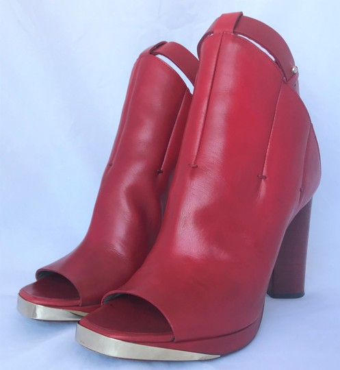CoSTUME NATIONAL Louboutins Daffodile Pigalle Pump Red Burgundy Sandals Image 2