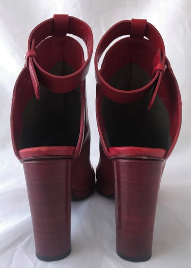 CoSTUME NATIONAL Louboutins Daffodile Pigalle Pump Red Burgundy Sandals Image 4