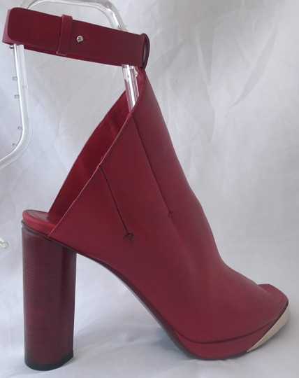 CoSTUME NATIONAL Louboutins Daffodile Pigalle Pump Red Burgundy Sandals Image 5