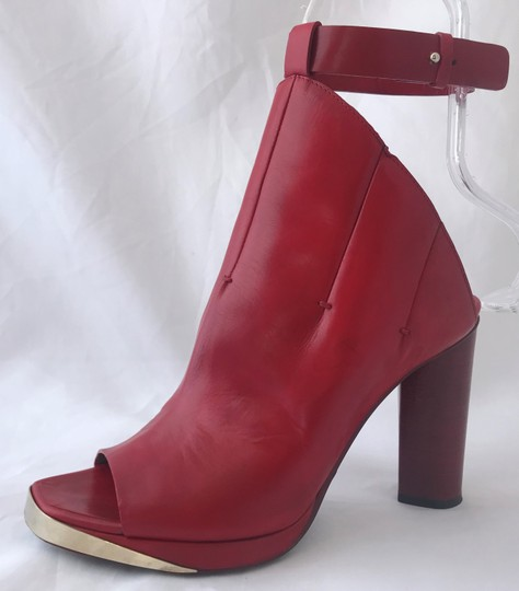 CoSTUME NATIONAL Louboutins Daffodile Pigalle Pump Red Burgundy Sandals Image 6
