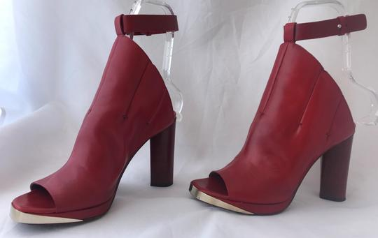 CoSTUME NATIONAL Louboutins Daffodile Pigalle Pump Red Burgundy Sandals Image 7