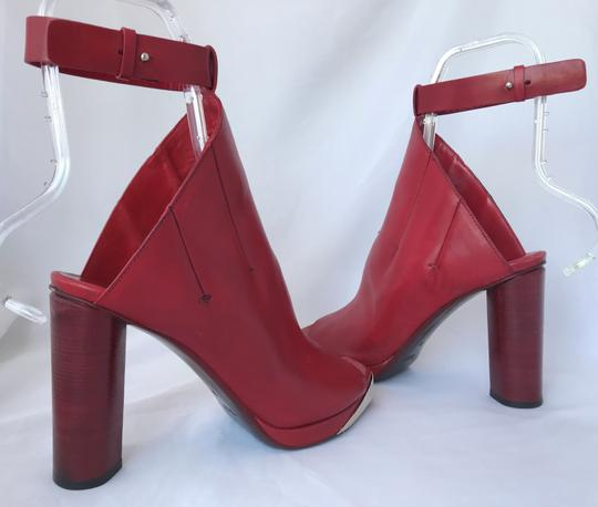 CoSTUME NATIONAL Louboutins Daffodile Pigalle Pump Red Burgundy Sandals Image 8