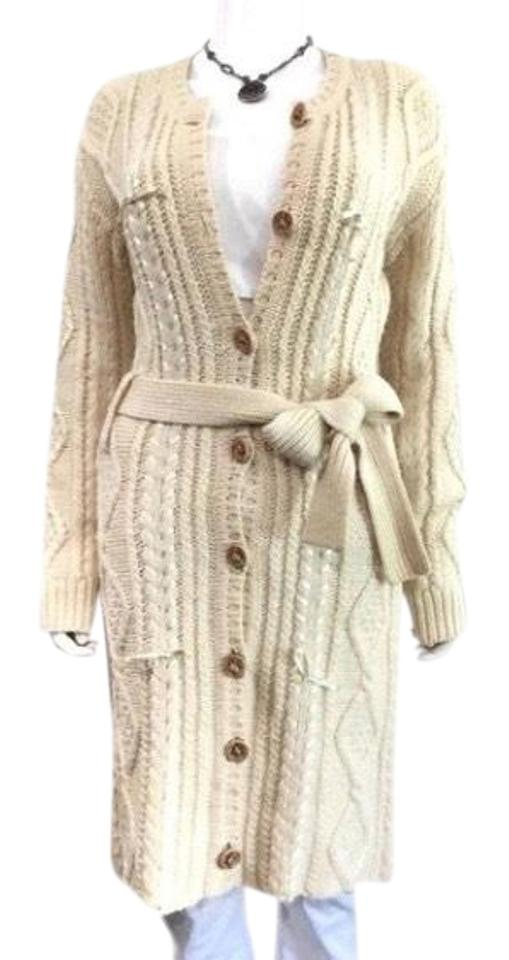 b97155e2c13 Dior Vintage Cream Cardigan Ribbon Woven Bow Sweater Duster Made In Italy  Jacket