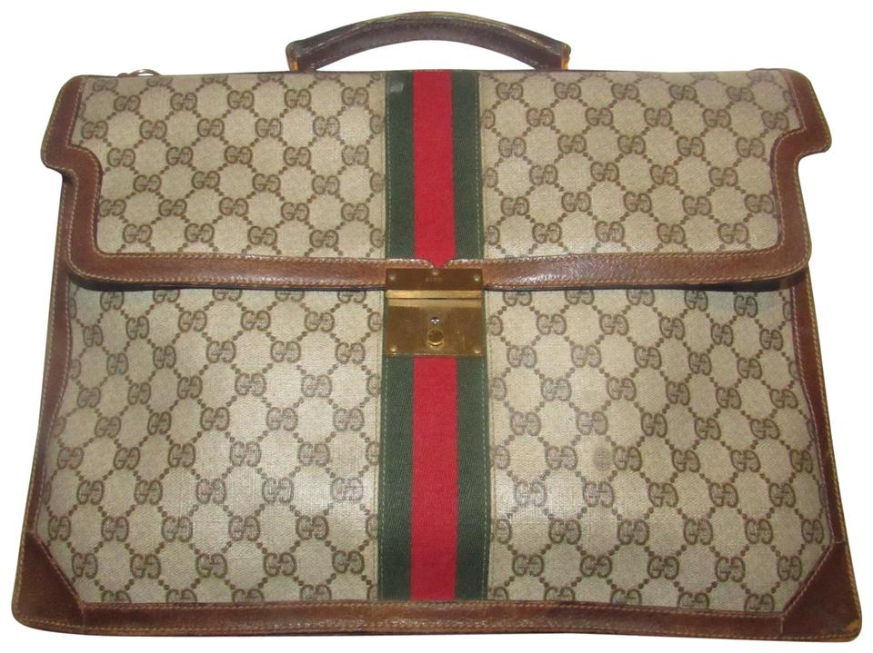 0244ae0ad94c Gucci Xl Laptop/Briefcase Excellent Vintage Rare Early Cross Body/Handheld  Re-released ...
