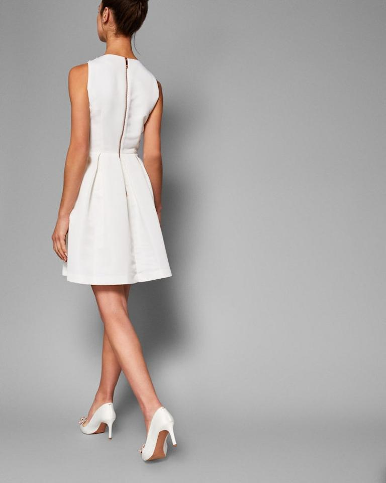 Embellished Pearl Cocktail Ivory Milliea Skater Baker Dress Ted wqCAITxI