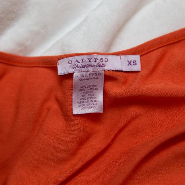 Calypso St. Barth Embroidered Top coral Image 6