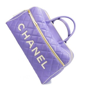 Chanel Boston Duffel Purple Travel Bag