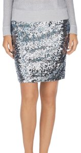 White House | Black Market Mini Skirt Silver
