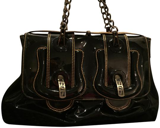 Preload https://img-static.tradesy.com/item/23812381/fendi-b-buckle-large-black-patent-leather-shoulder-bag-0-1-540-540.jpg
