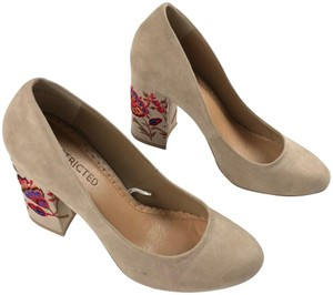 Restricted Floral Embroidered Pumps