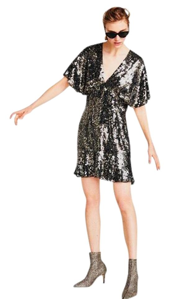 5dfdede4 Zara Limited Edition Sequin Night Out Dress Size 6 (S) - Tradesy