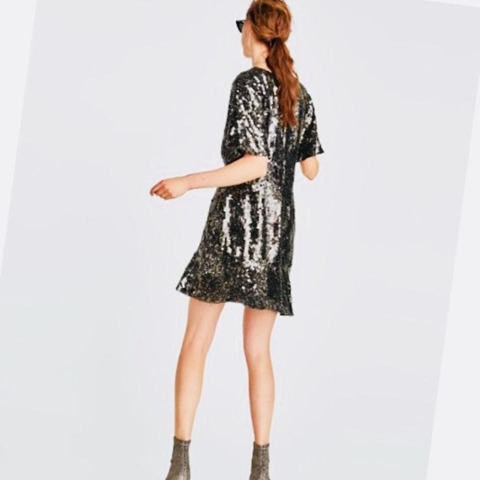 49d67936 Zara Limited Edition Sequin Night Out Dress Size 6 (S) - Tradesy