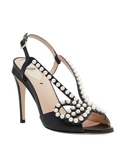 Fendi Open Toe Ankle Strap Sandal Stiletto Classic black Pumps Image 2