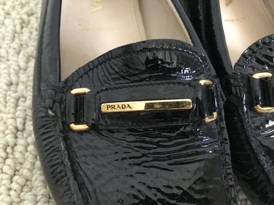 Prada Patent Leather Logo Loafers Black Flats Image 10