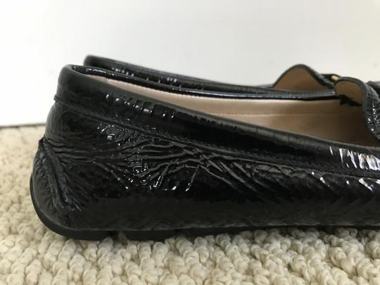 Prada Patent Leather Logo Loafers Black Flats Image 3