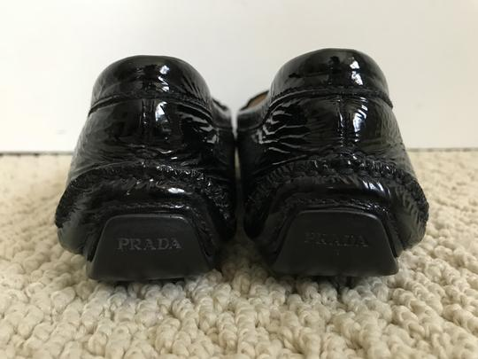 Prada Patent Leather Logo Loafers Black Flats Image 4
