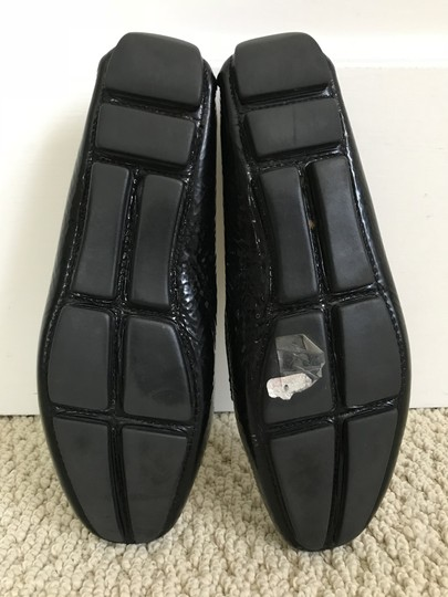 Prada Patent Leather Logo Loafers Black Flats Image 6