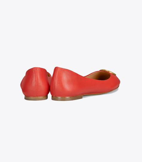 Tory Burch Leather Ballet Chelsea Cap-toe Red Flats Image 1