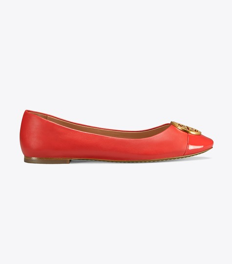 Tory Burch Leather Ballet Chelsea Cap-toe Red Flats Image 2