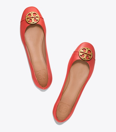 Tory Burch Leather Ballet Chelsea Cap-toe Red Flats Image 3