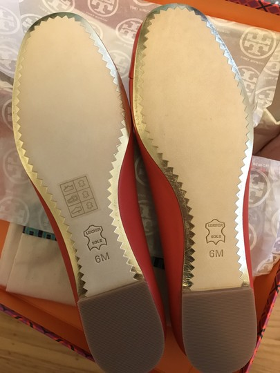 Tory Burch Leather Ballet Chelsea Cap-toe Red Flats Image 5