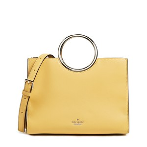 Kate Spade Ringed Handle Yellow Cross Body Bag