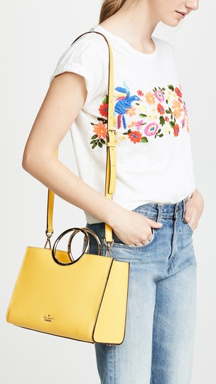 Kate Spade Ringed Handle Yellow Cross Body Bag Image 4
