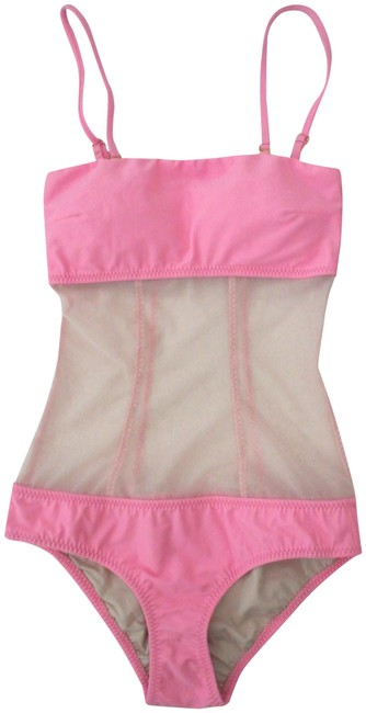Preload https://img-static.tradesy.com/item/23812957/pink-bandeau-one-piece-bathing-suit-size-2-xs-0-1-650-650.jpg