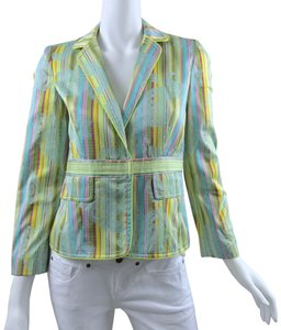 Cynthia Steffe Striped Paisley Multicolor Blazer