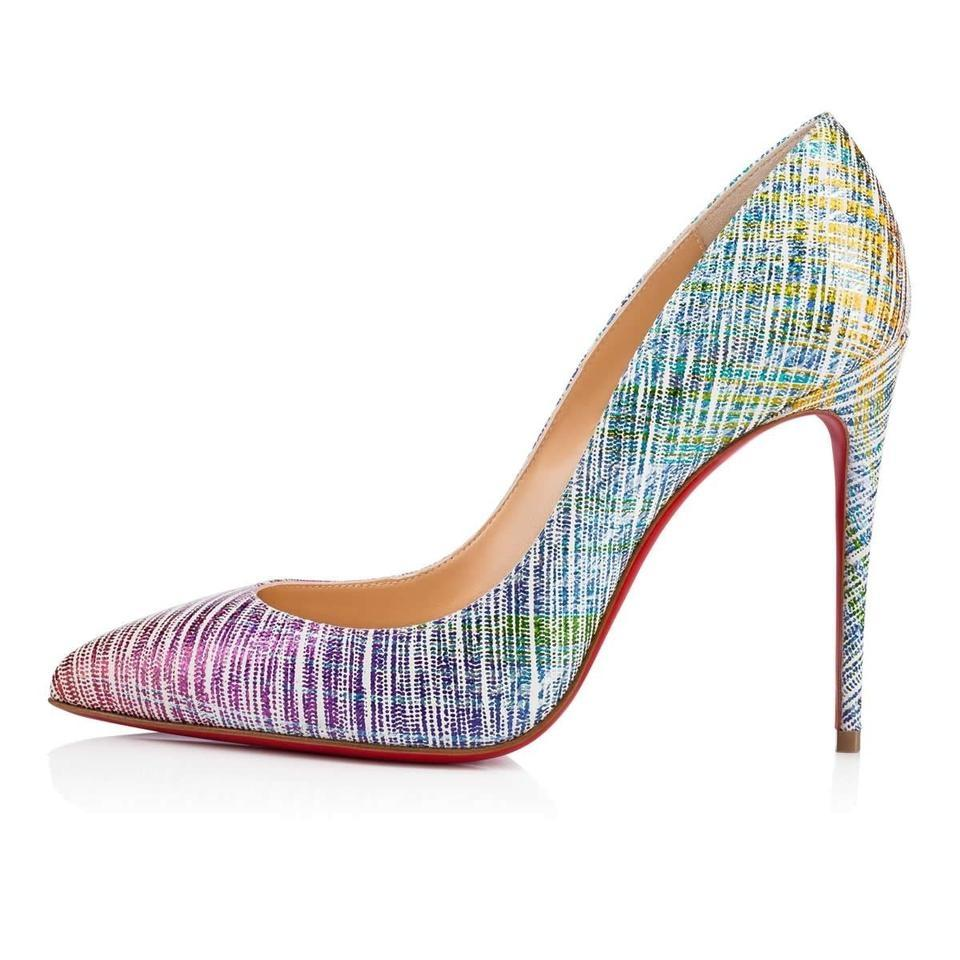 90e09898234f Christian Louboutin Unicorn Rainbow Pink Blue Purple Pigalle Follies ...