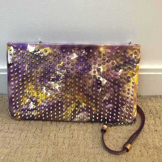 Christian Louboutin multicolored- Lavender, white, light yellow Clutch Image 1