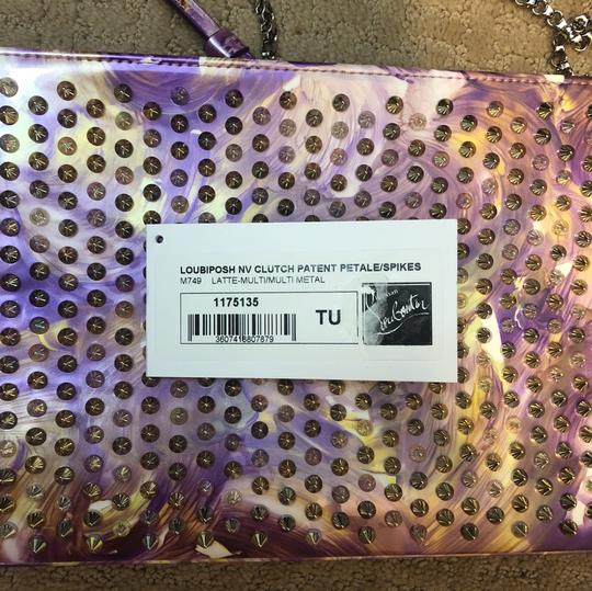 Christian Louboutin multicolored- Lavender, white, light yellow Clutch Image 4