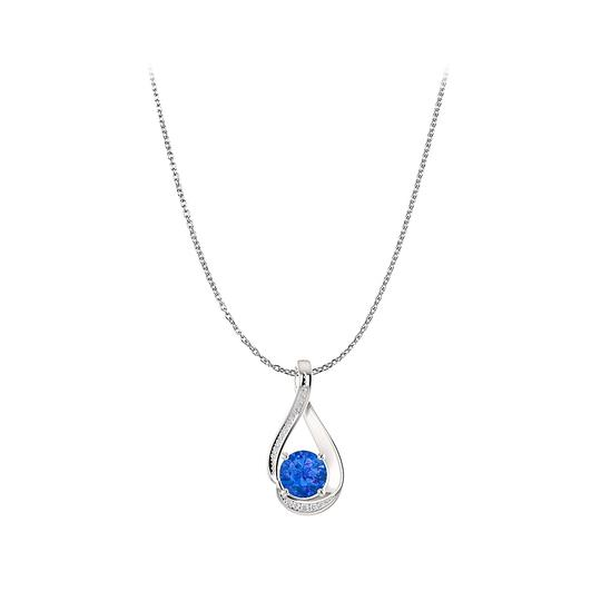 Preload https://img-static.tradesy.com/item/23813016/blue-go-trendy-with-sapphire-cz-infinity-pendant-in-silver-necklace-0-0-540-540.jpg