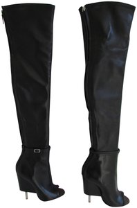 Givenchy Black Leather Over The Knee Boots