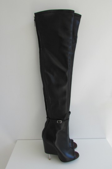 Givenchy Black Leather Over The Knee Boots Image 1