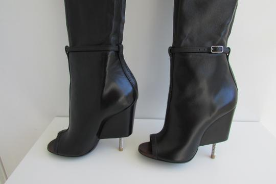 Givenchy Black Leather Over The Knee Boots Image 10
