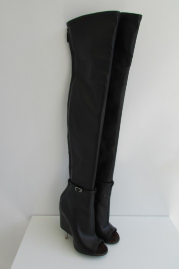 Givenchy Black Leather Over The Knee Boots Image 2