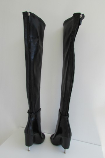 Givenchy Black Leather Over The Knee Boots Image 3