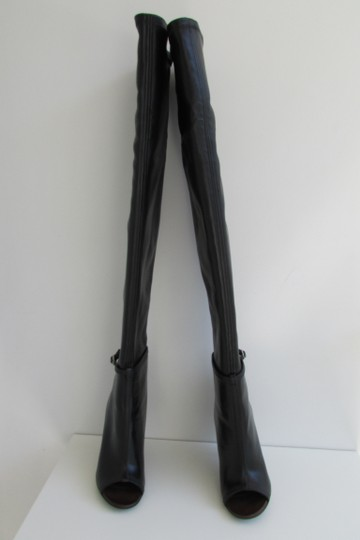 Givenchy Black Leather Over The Knee Boots Image 5