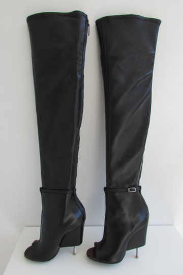 Givenchy Black Leather Over The Knee Boots Image 6