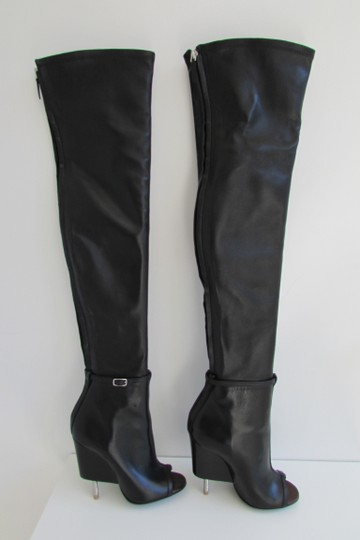 Givenchy Black Leather Over The Knee Boots Image 7