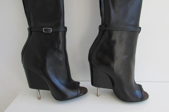 Givenchy Black Leather Over The Knee Boots Image 9