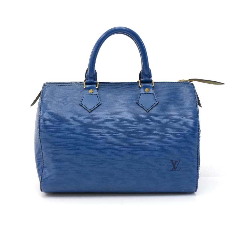 b6228a3013d2 Louis Vuitton Speedy Cité Vintage 25 Epi Hand Blue Leather Hobo Bag ...