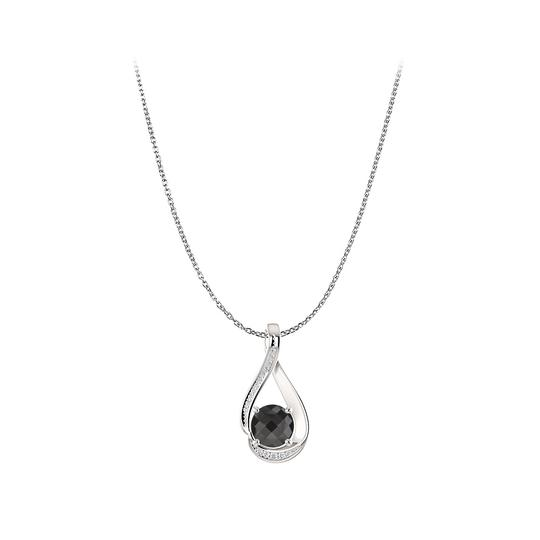 Preload https://img-static.tradesy.com/item/23813035/black-magical-onyx-cz-infinity-pendant-sterling-silver-necklace-0-0-540-540.jpg