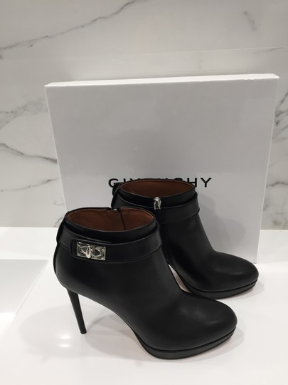 Givenchy Leather Shark Lock Made In Italy Ankle Strap black Boots Image 4