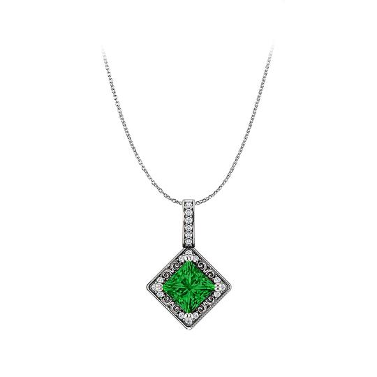Preload https://img-static.tradesy.com/item/23813058/green-pay-for-emerald-and-cz-square-925-silver-pendant-only-necklace-0-0-540-540.jpg