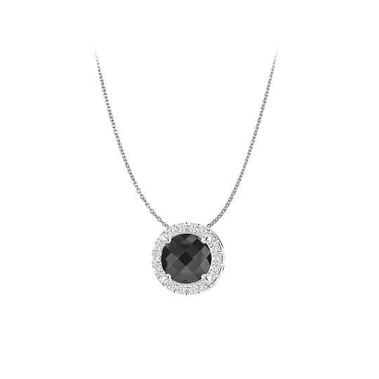 Preload https://img-static.tradesy.com/item/23813174/black-round-onyx-and-cz-halo-pendant-in-sterling-silver-necklace-0-0-540-540.jpg