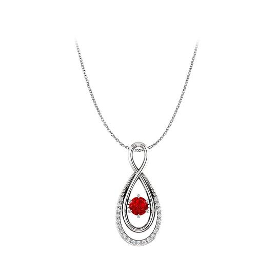 Preload https://img-static.tradesy.com/item/23813177/red-ruby-and-cz-infinity-double-loop-style-pendant-silver-necklace-0-0-540-540.jpg
