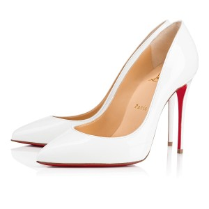Christian Louboutin Pigalle Stiletto Follies Classic Patent white Pumps