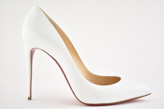 Christian Louboutin Pigalle Stiletto Follies Classic Patent white Pumps Image 1